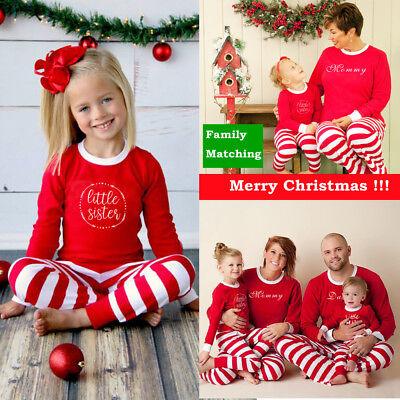 Usa Family Matching Christmas Pajamas Set Women Daddy Kids Sleepwear Nightwear