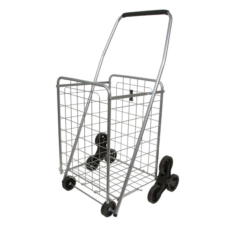 Helping Hand FQ39905 Heavy Duty 3 Wheel Stair Climbing Folding Cart, Silver