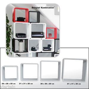Safe 4 cubi arredo bianchi set con 4 diversi formati ebay for Cubi arredo