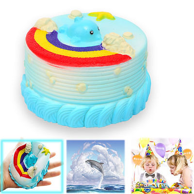 12CM Cute Jumbo Squishy Sea Dolphin Cake Scented Super Slow Rising Kids squishy