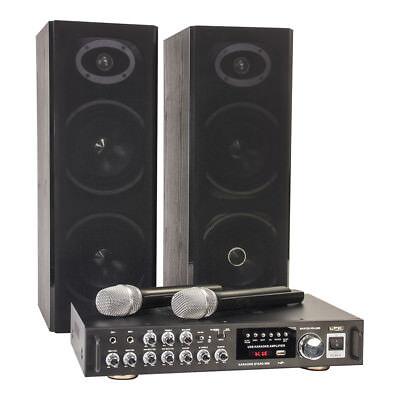 LTC Karaoke Sound System 200W USB SD 2x Wireless Mic (Karaoke-sound-system)
