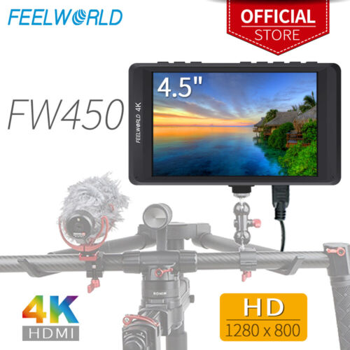 FEELWORLD FW450 4.5 inch IPS 4k Camera Field Video Monitor f