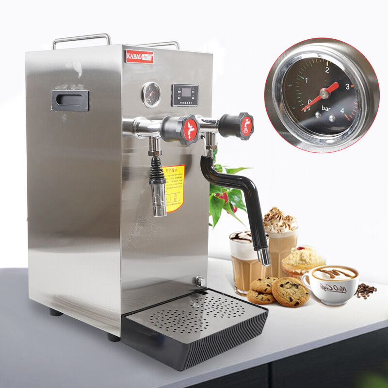 Commercial Professional Espresso Coffee Milk Foam Steam Water Boiling Machine