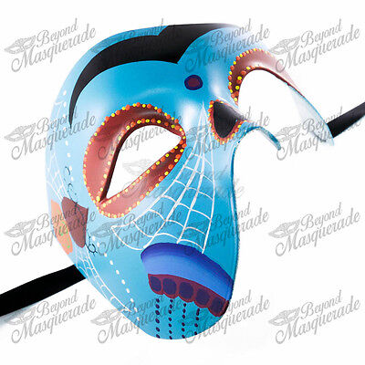Cool Halloween Designs (Day of the Dead Skeleton Phantom of the Opera Masquerade Mask Cool Blue)