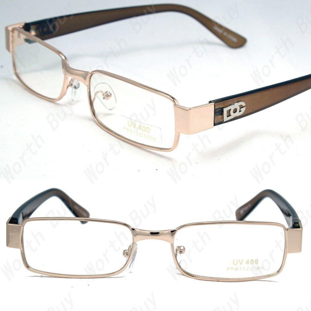 $8.45 - New Mens Womens DG Clear Lens Frame Glasses Designer Fashion Optical RX Nerd 32