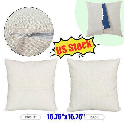 Usa 10pc Plain Heat Transfer Sublimation Blank Pillow Case Fashion With Pocket