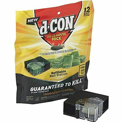 D-Con Corner Fit Mouse Poison Bait Station With 1 And 12 Refill Baits Health