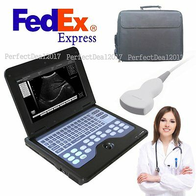 Usa Fedex Portable Laptop Machine Digital Ultrasound Scanner 3.5 Convex Probe