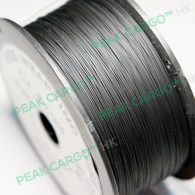 Black 30 Awg 1000ft Sliver Plated Wrapping Copper Wire Wrap Spool Reel Pvdf Usa
