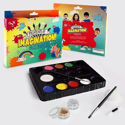 Glitter Body Paint (Kids Face Body Paint Set Kit 8 Colors Glitter Brushes Sponges - GREAT GIFT!! )