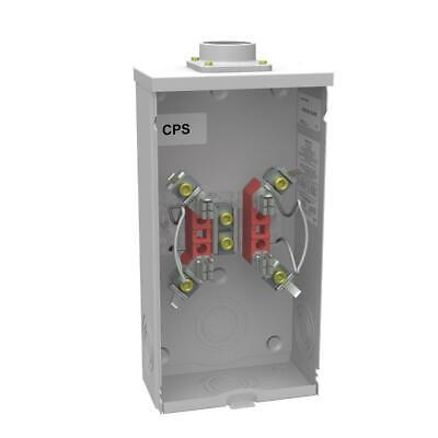Milbank 200 Amp 4-terminal Ringless Overhead Horn Bypass Meter Socket