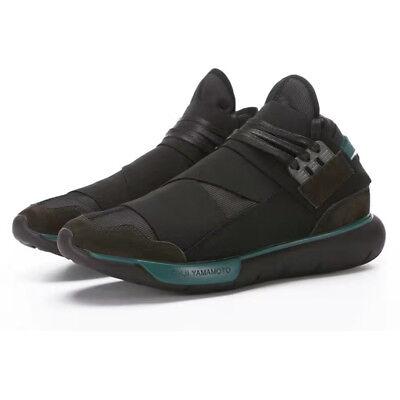 2018 Y3 Qasa Hi Yamamoto Black Running Shoes Light Weight Mesh Mens Sports Shoes