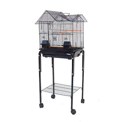 House Top Bird Cage with Stand for Canary Cockatiel Parakeets Lovebird Finch
