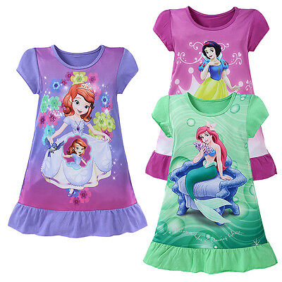 Short Sleeve Tutu - 3-10Y Kids Girls Cartoon Mermaid Short Sleeve Princess Casual Tutu Dress Clothes