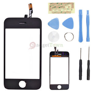 Touch Screen Glass Lens Digitizer Replacement for Apple iPhone 3G +8 in 1 Tools