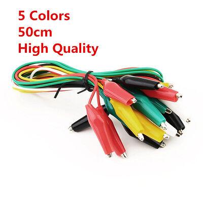 5pcs10pcs20pcs Test Alligator Crocodile Clip Jumper Probe Lead Wire Tech Cable