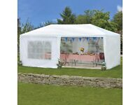 White Gazebo Party Tent 6x3M *New/Unused with Instructions*