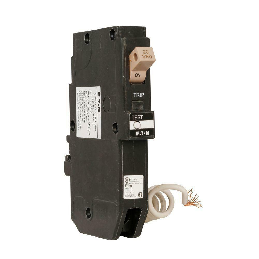 Eaton Cutler Hammer Chfgft120cs Ground Fault Circuit Breaker 20a Interrupter Gfci How To Wire A Stock Photo