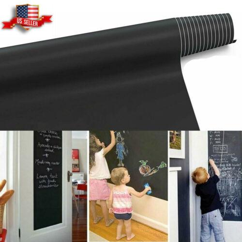 Home Decoration - 6.6FT Chalkboard Wall Sticker Blackboard Removable Chalk Board Contact Paper