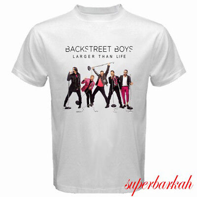 New Bsb Backstreet Boys Larger Than Life Tour Mens White T Shirt Size S 3Xl