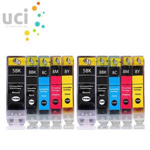 10 INK CARTRIDGES FOR CANON PIXMA MP600 MP600R MP610 MP800 MP800R PGI5 CLI8