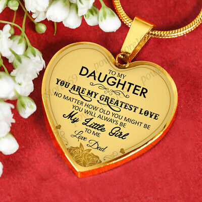 Necklaces For Little Girls (To My Daughter Necklaces - You Are My Greatest Love My Little Girls - From)
