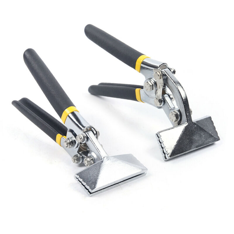 2x Offset Handle Hand Seamer+Straight Jaw Sheet Metal Hand Seamer Kit Non-Slip