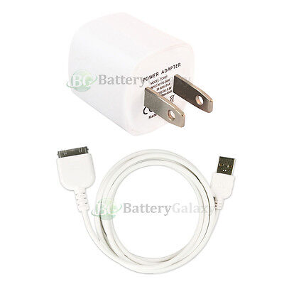 USB Home Wall AC Charger+Cable Data Cord for Apple iPod Nano 1G 2G 3G 4G 5G 6G