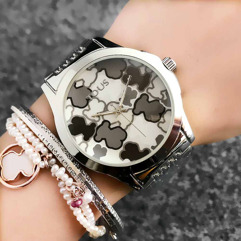 $11.99 - TOP ONE Luxury Women's Fashion 40mm Stainless Steel T6848 Bear Wrist Watch