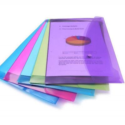 Rapesco A4 Popper Wallets Plastic Document Wallets Envelope Landscape Pack Of 5