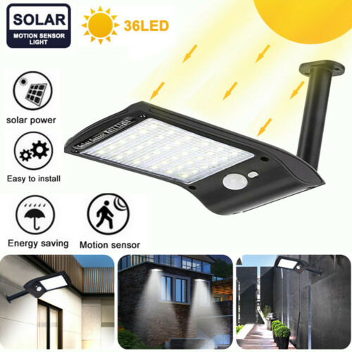 Garden Yard Lamp 36 LED Solar Lights Motion Sensor Wall Light Outdoor Waterproof Home & Garden