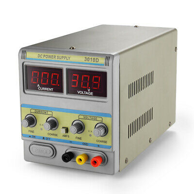 Dc Power Supply Variable 30v 10a Adjustable 110v220v Regulated Digital Display