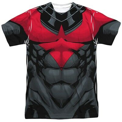 Batman Uniform (Batman Nightwing Red Costume Outfit Uniform Allover Front Sublimation)