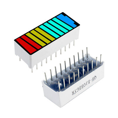 1510pc 10 Segment 4 Colour Color Led Battery Bar Graph Light Display Indicator