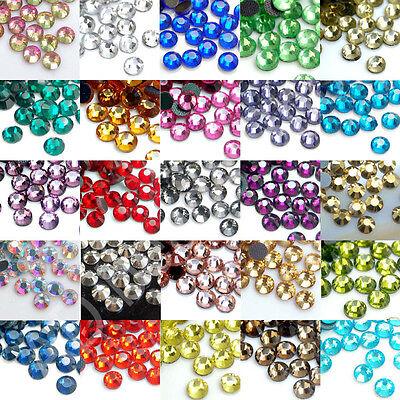 Ss10 Crystal (1440pcs DMC Iron On Hotfix Crystal Rhinestones Many Colors SS10, SS16, SS20 )
