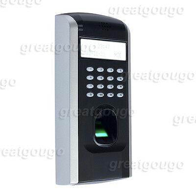 Biometric Fingerprint Time Clock Attendance Recorder System Door Access Control