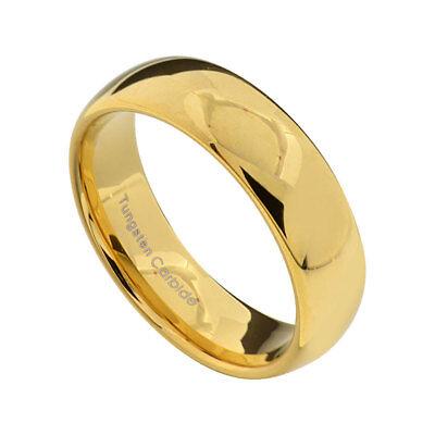 Tungsten Carbide Classic 18k Gold Wedding Band Men Women Engagement Ring 7mm 7mm Tungsten Carbide Wedding Band