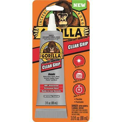 The Gorilla Glue Company 8040002 3 Fl Oz Crystal Clear Grip Contact Adhesive