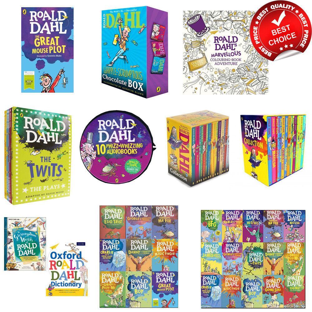 Roald Dahl books box set collection audio boy matilda characters children book