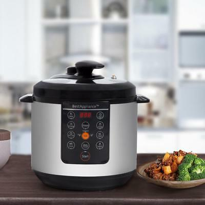 Electric Pressure Cooker 6Qt rice Cooker Slow Cooker, Multi-Use Programmable