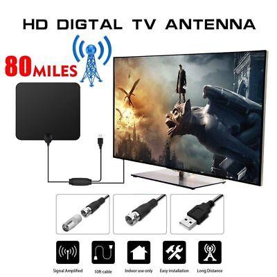 Innen Fernsehantenne TV Antenna HD Amplifier Für HDTV VHF TVFox 80 Mile Range DE