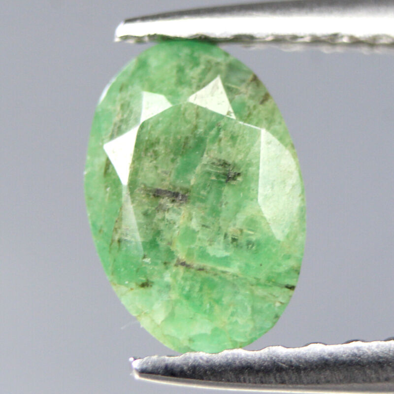 CERTIFIED 0.54Cts Green Natural Emerald Oval Colombia Gemstone SEE VIDEO