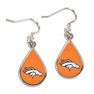 Denver Broncos Wincraft NFL Logo Tear Drop Earrings Carded FREE SHIP!