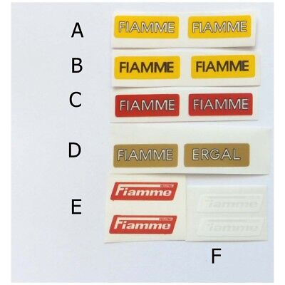 FIAMME ERGAL gold decal sticker for rims free shipping silk screen