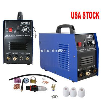 3 In 1 Tig Mma Air Plasma Cutter Welder Welding Torch Machine Ct312 Usa Hot