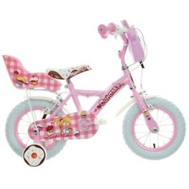 "Apollo Cupcake bike 12"" wheels steel frame in pink (hardly used)"