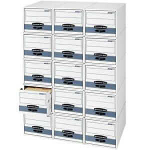 NEW Bankers Box Stor/Drawer Steel Plus Storage Drawers, Letter, 6 Pack Condition: New