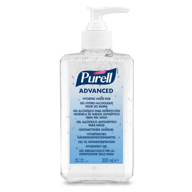 2 x PURELL Advanced Hand Sanitizer Alcohol Hand Rub Gel 300ml - £5.02 Each ExVat