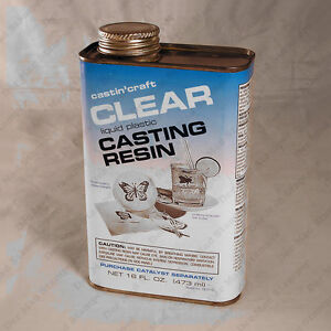 Clear polyester casting resin 16 oz castincraft without for Castin craft clear resin