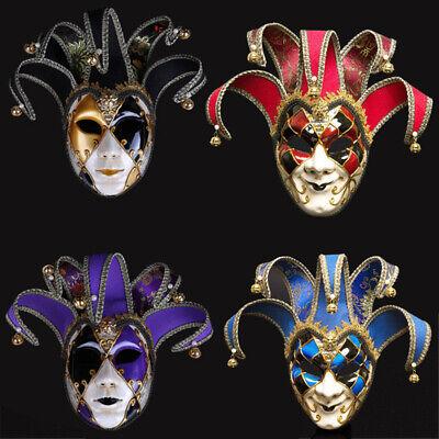 Full Face Venetian Joker Masquerade Mask Mardi Gras Unisex Cosplay Halloween - Joker Masquerade